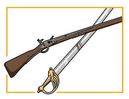 vignette armes anciennes